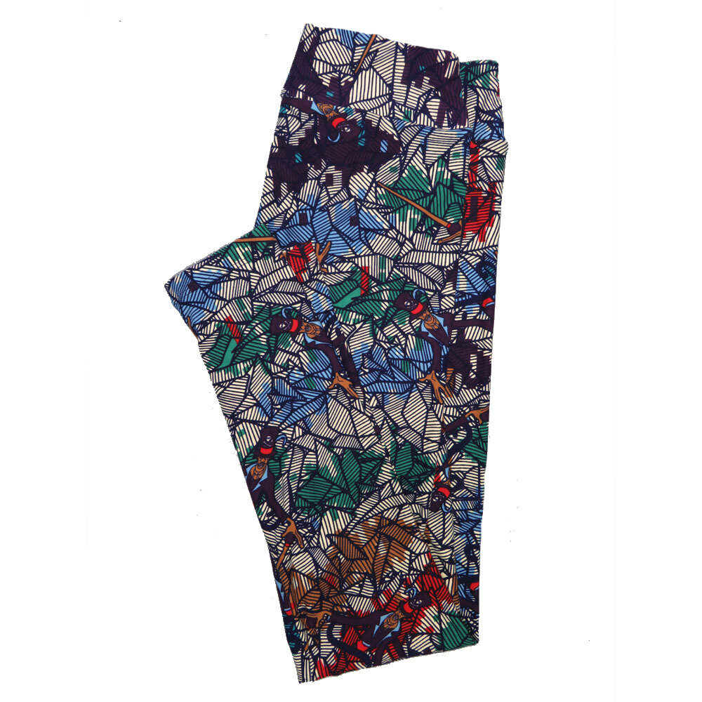 LuLaRoe One Size OS Geometric Leggings (OS fits Adults 2-10) OS-4099-E