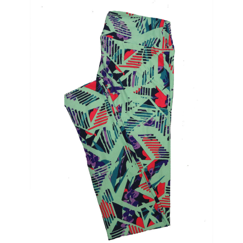 LuLaRoe One Size OS Geometric Leggings (OS fits Adults 2-10) OS-4100-R