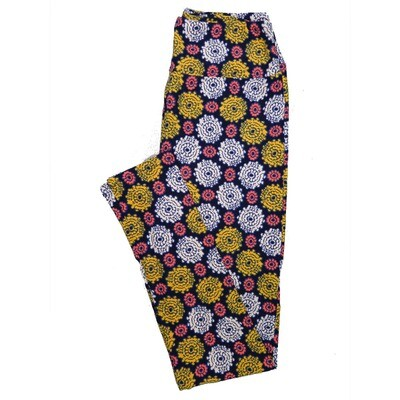 LuLaRoe One Size OS Floral Leggings (OS fits Adults 2-10) OS-4067-D2