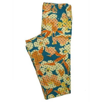 LuLaRoe One Size OS Floral Leggings (OS fits Adults 2-10) OS-4067-G3