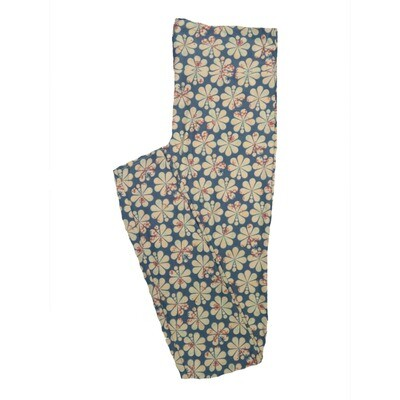 LuLaRoe One Size OS Floral Leggings (OS fits Adults 2-10) OS-4067-H