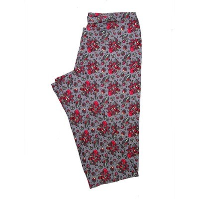 LuLaRoe One Size OS Floral Leggings (OS fits Adults 2-10) OS-4070-D