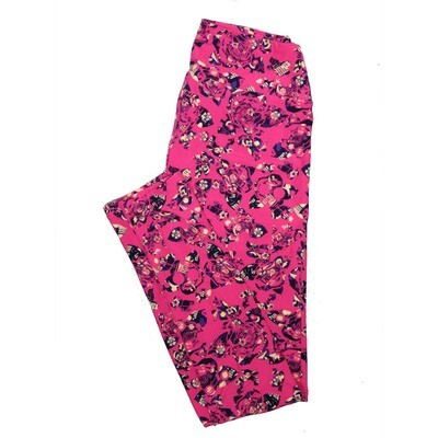 LuLaRoe One Size OS Floral Leggings (OS fits Adults 2-10) OS-4071-H