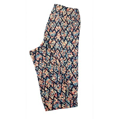 LuLaRoe One Size OS Floral Leggings (OS fits Adults 2-10) OS-4015-S