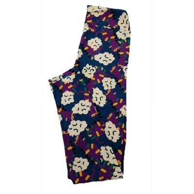 LuLaRoe One Size OS Floral Leggings (OS fits Adults 2-10) OS-4016-W