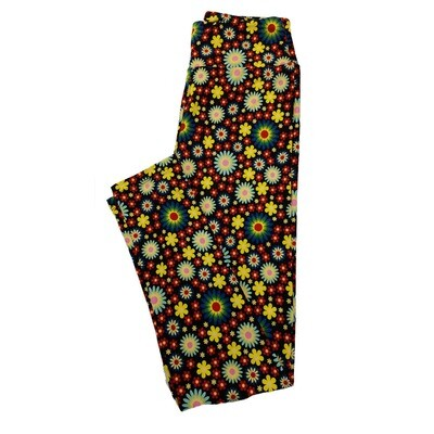 LuLaRoe One Size OS Floral Leggings (OS fits Adults 2-10) OS-4017-H