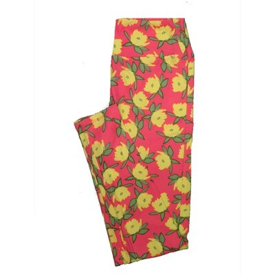 LuLaRoe One Size OS Floral Leggings (OS fits Adults 2-10) OS-4063-G