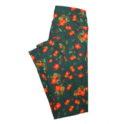 LuLaRoe One Size OS Floral Leggings (OS fits Adults 2-10) OS-4064-O