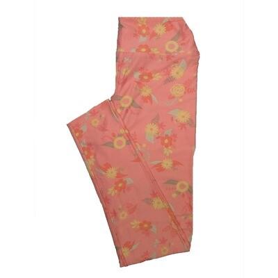 LuLaRoe One Size OS Floral Leggings (OS fits Adults 2-10) OS-4065-B2