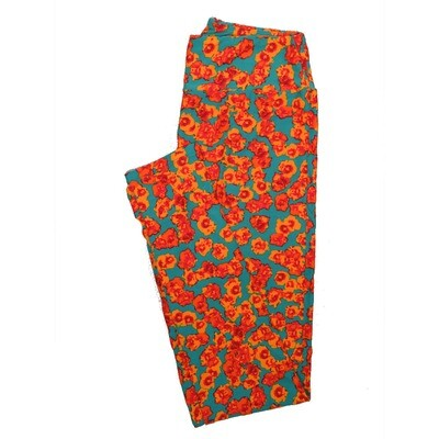 LuLaRoe One Size OS Floral Leggings (OS fits Adults 2-10) OS-4065-D2