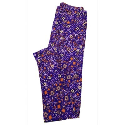 LuLaRoe One Size OS Psychedelic 70's and Trippy Leggings (OS fits Adults 2-10) OS-4023-N