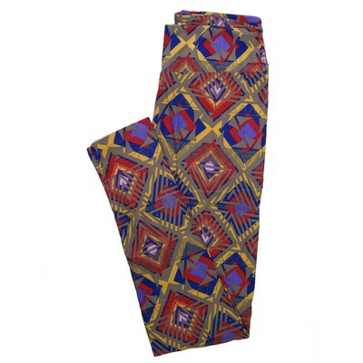 LuLaRoe One Size OS Psychedelic 70's and Trippy Leggings (OS fits Adults 2-10) OS-4077-K