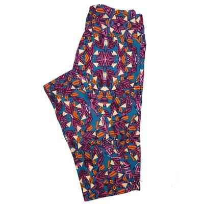 LuLaRoe One Size OS Psychedelic 70's and Trippy Leggings (OS fits Adults 2-10) OS-4078-E