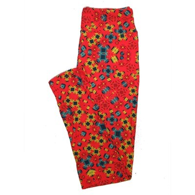 LuLaRoe One Size OS Psychedelic 70's and Trippy Leggings (OS fits Adults 2-10) OS-4078-F