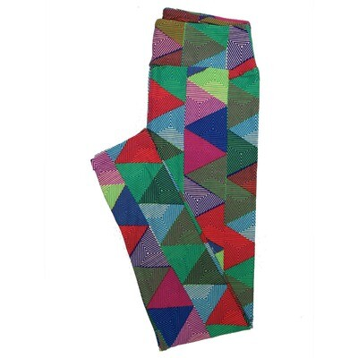 LuLaRoe One Size OS Stripes, Zig Zags and Chevrons Leggings (OS fits Adults 2-10) OS-4074-R