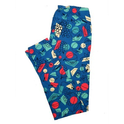LuLaRoe One Size OS Animals Stars and Objects Leggings (OS fits Adults 2-10) OS-4092-K