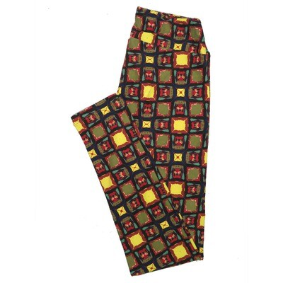 LuLaRoe One Size OS Animals Stars and Objects Leggings (OS fits Adults 2-10) OS-4097-L