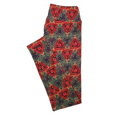 LuLaRoe One Size OS Psychedelic 70's and Trippy Leggings (OS fits Adults 2-10) OS-4079-K