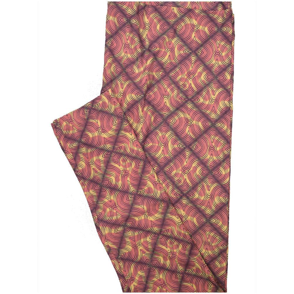 LuLaRoe Tall Curvy TC Trippy Checkerboard Pink Cream Leggings (TC fits Adults 12-18) TC-7226-M8