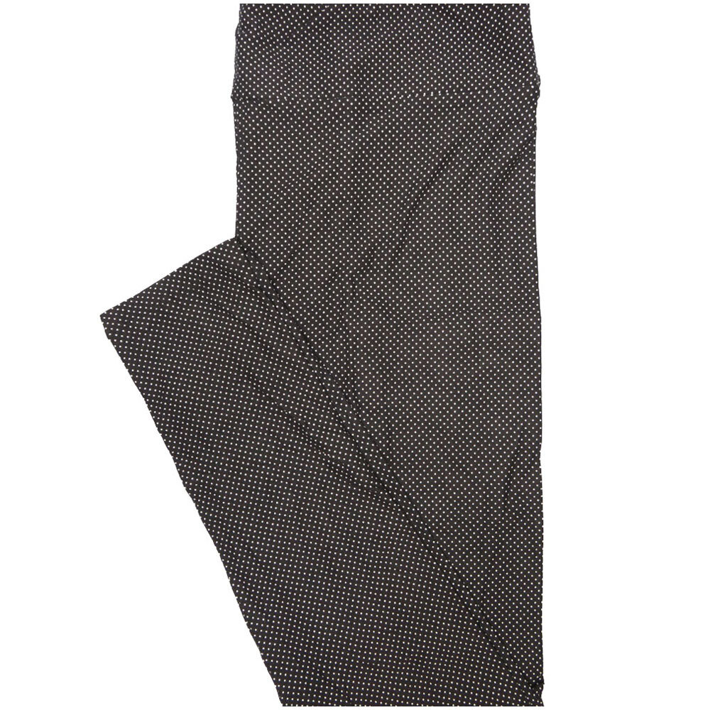 LuLaRoe Tall Curvy TC Black and White Micro Polka Leggings (TC fits Adults 12-18) TC-7224-A7