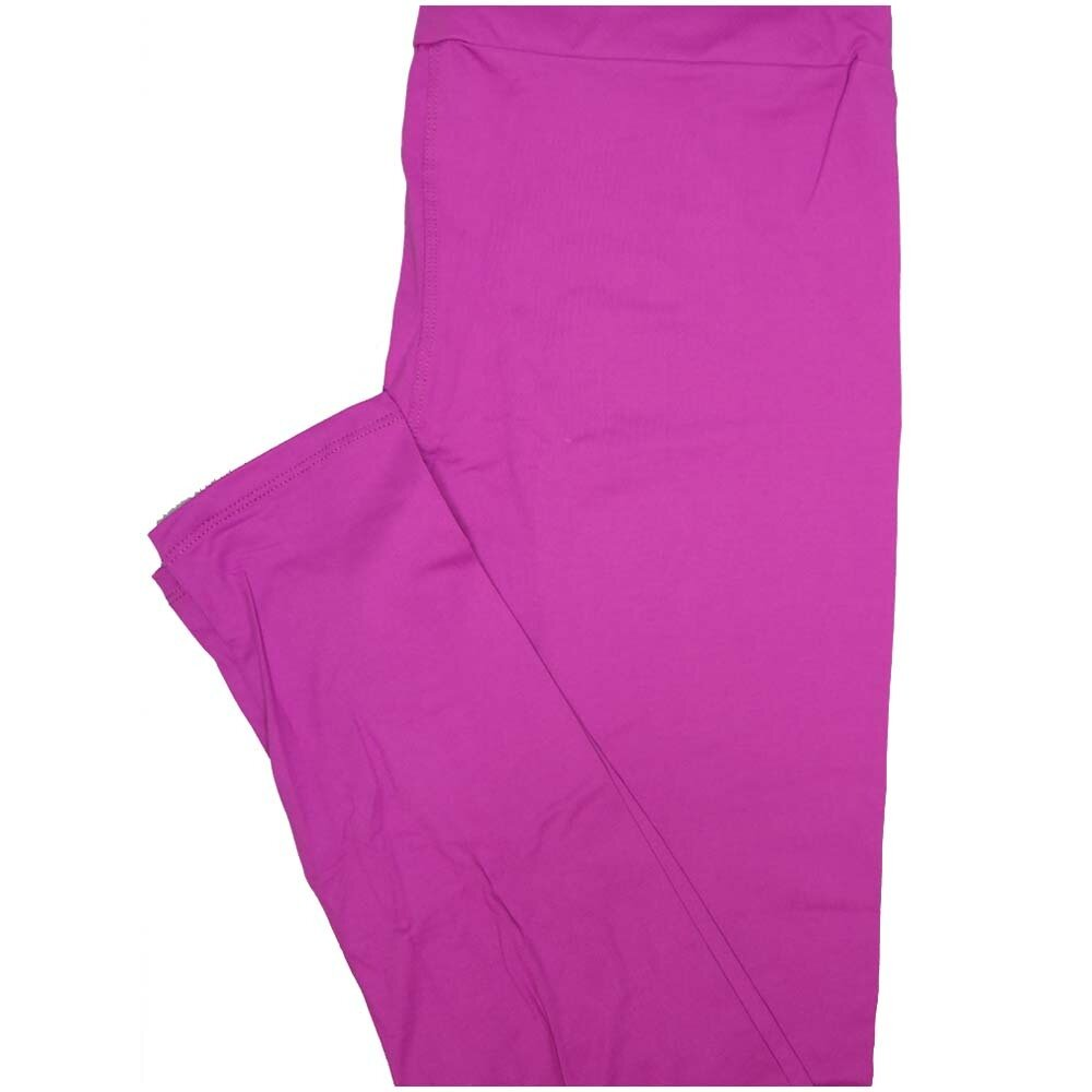 LuLaRoe Tall Curvy TC Solid Electric Purple So Womens Buttery Soft Leggings (TC fits Adults 12-18)