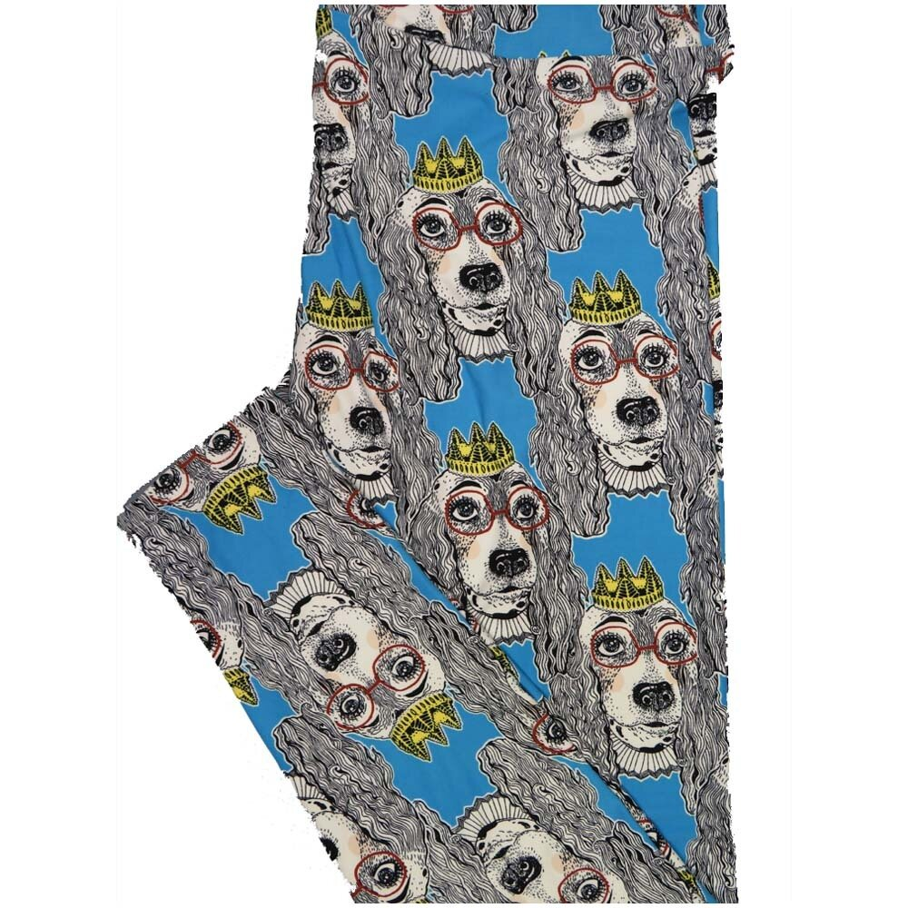 LuLaRoe TCTWO TC2 Queen King Dog Puppy Buttery Soft Leggings - TC2 fits Adults 18+
