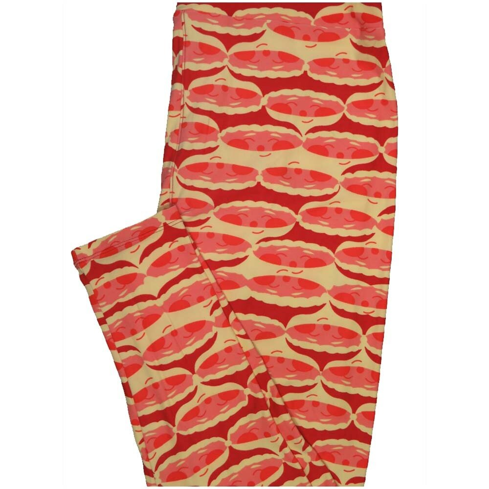 LuLaRoe TCTWO TC2 Santa Claus Geometric Christmas Buttery Soft Leggings - TC2 fits Adults 18+