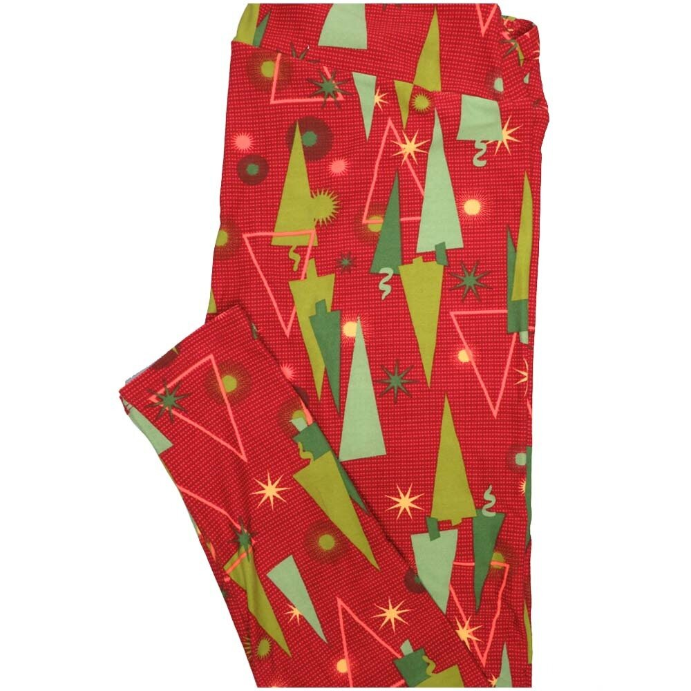 LuLaRoe TCTWO TC2 Christmas Trees Holiday Buttery Soft Leggings - TC2 fits Adults 18+