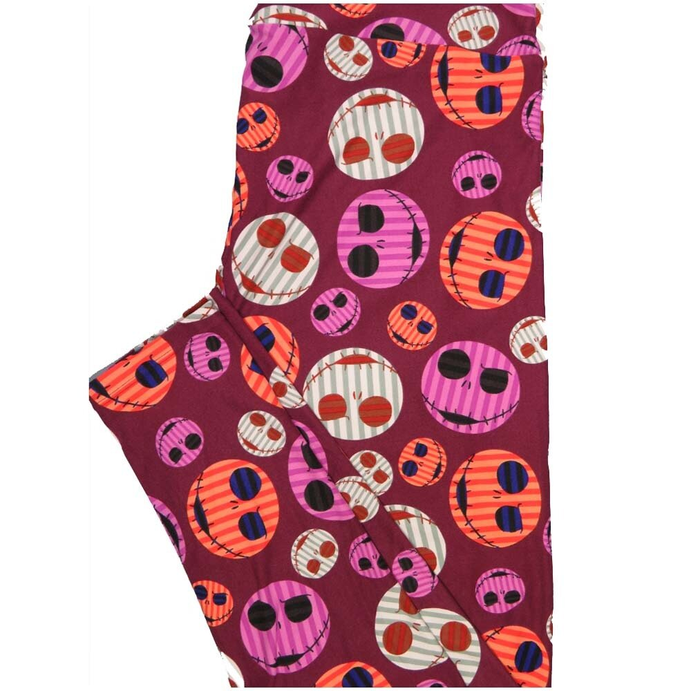 LuLaRoe TCTWO TC2 Disney Jack Skelington Nightmare Christmas Buttery Soft Leggings - TC2 fits Adults 18+
