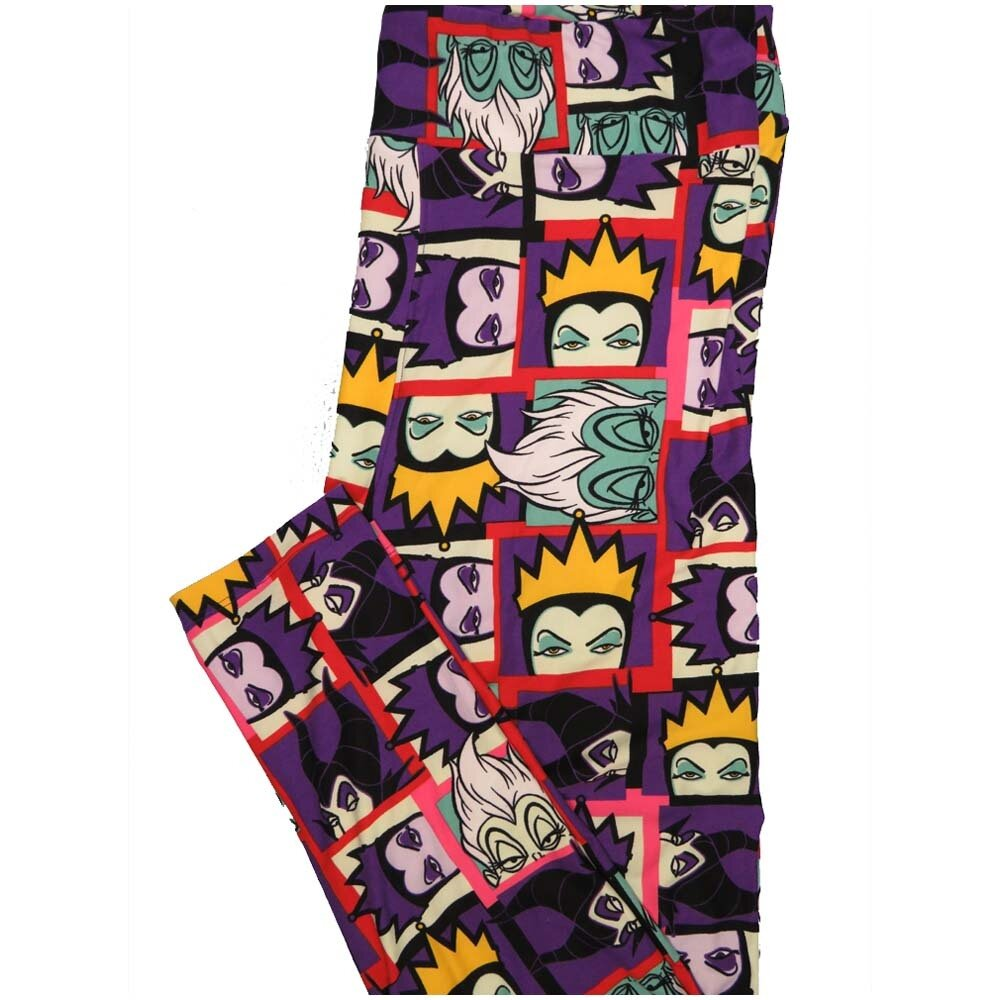 LuLaRoe TCTWO TC2 Evil Queen Old Witch Maleficent Disney Villainesses Buttery Soft Leggings - TC2 fits Adults 18+