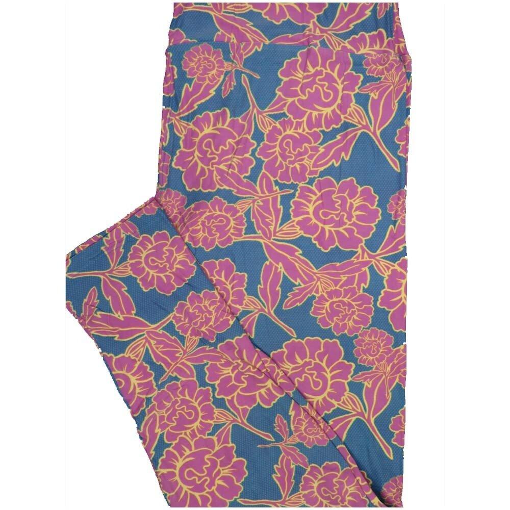LuLaRoe TCTWO TC2 Floral Buttery Soft Leggings - TC2 fits Adults 18+
