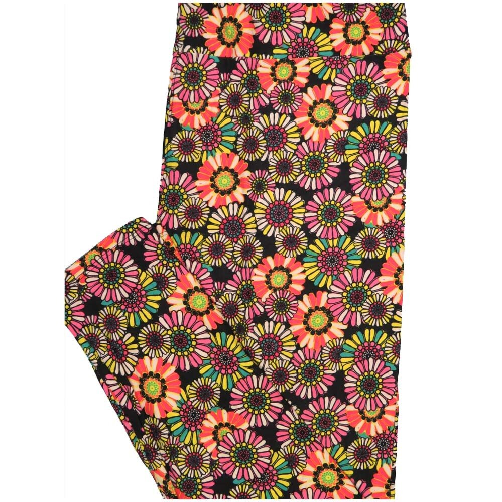 LuLaRoe TCTWO TC2 Rainbow Floral Buttery Soft Leggings - TC2 fits Adults 18+
