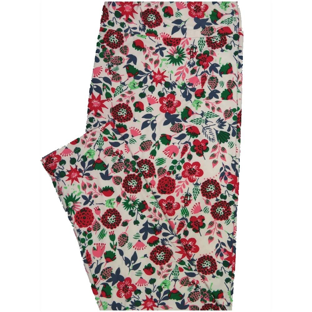 LuLaRoe TCTWO TC2 Floral Buttery Soft Leggings - TC2 fits Adults 18+