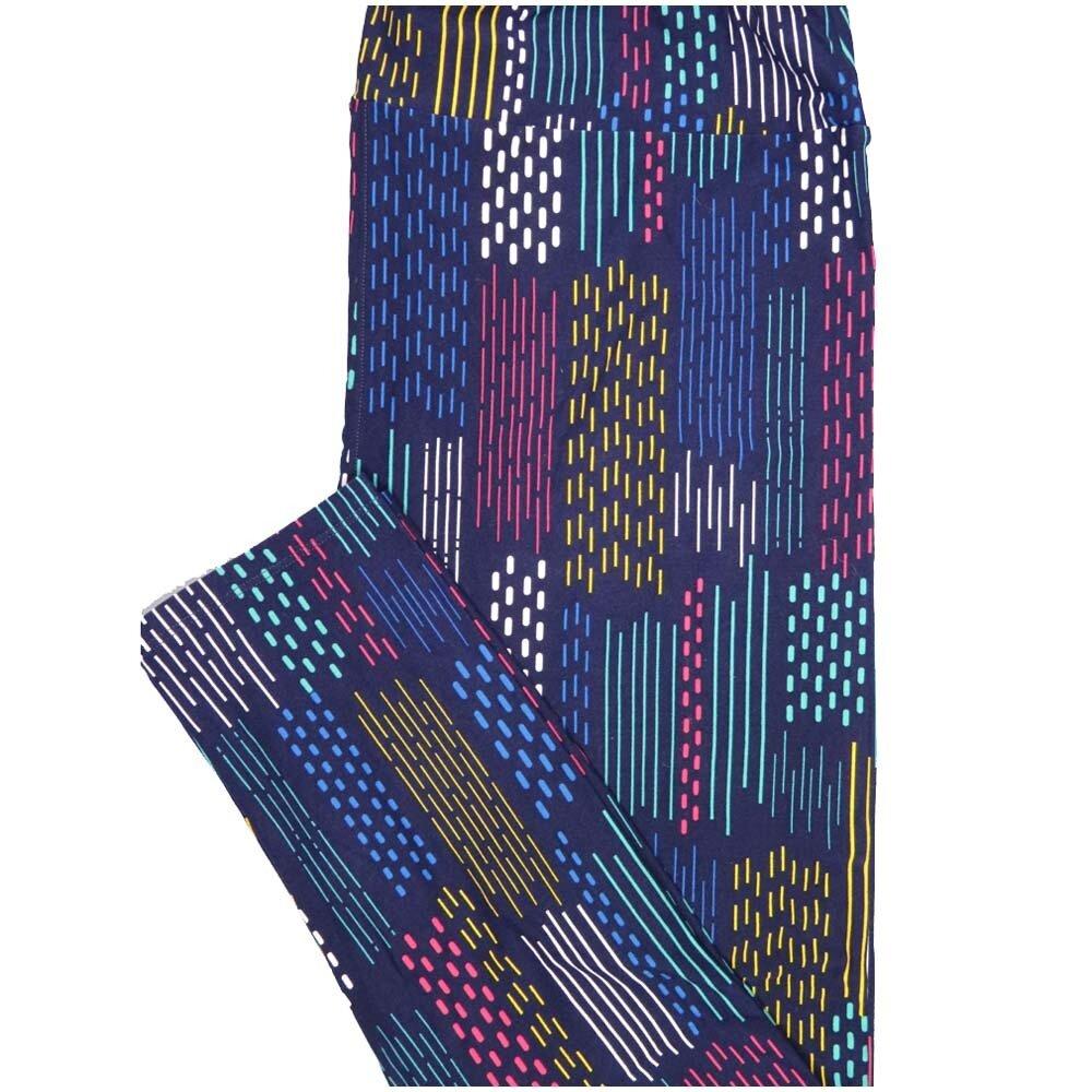 LuLaRoe TCTWO TC2 Rainbow Stripe Buttery Soft Leggings - TC2 fits Adults 18+