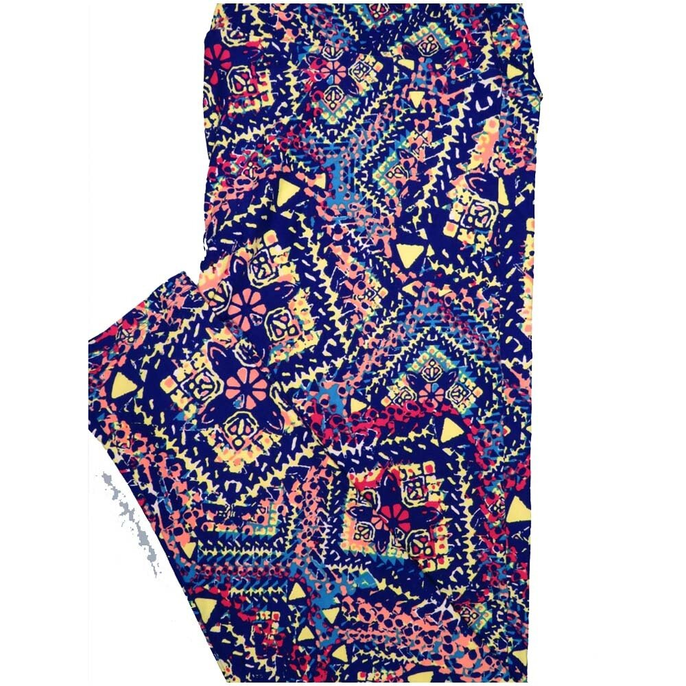 LuLaRoe TCTWO TC2 Patchwork Geometric Buttery Soft Leggings - TC2 fits Adults 18+