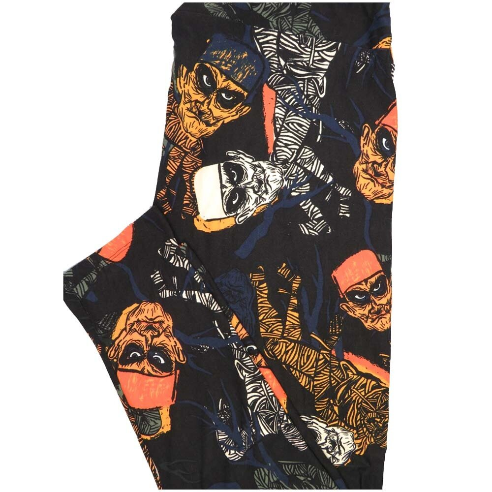 LuLaRoe TCTWO TC2 Halloween Frankenstein Mummy Buttery Soft Leggings - TC2 fits Adults 18+