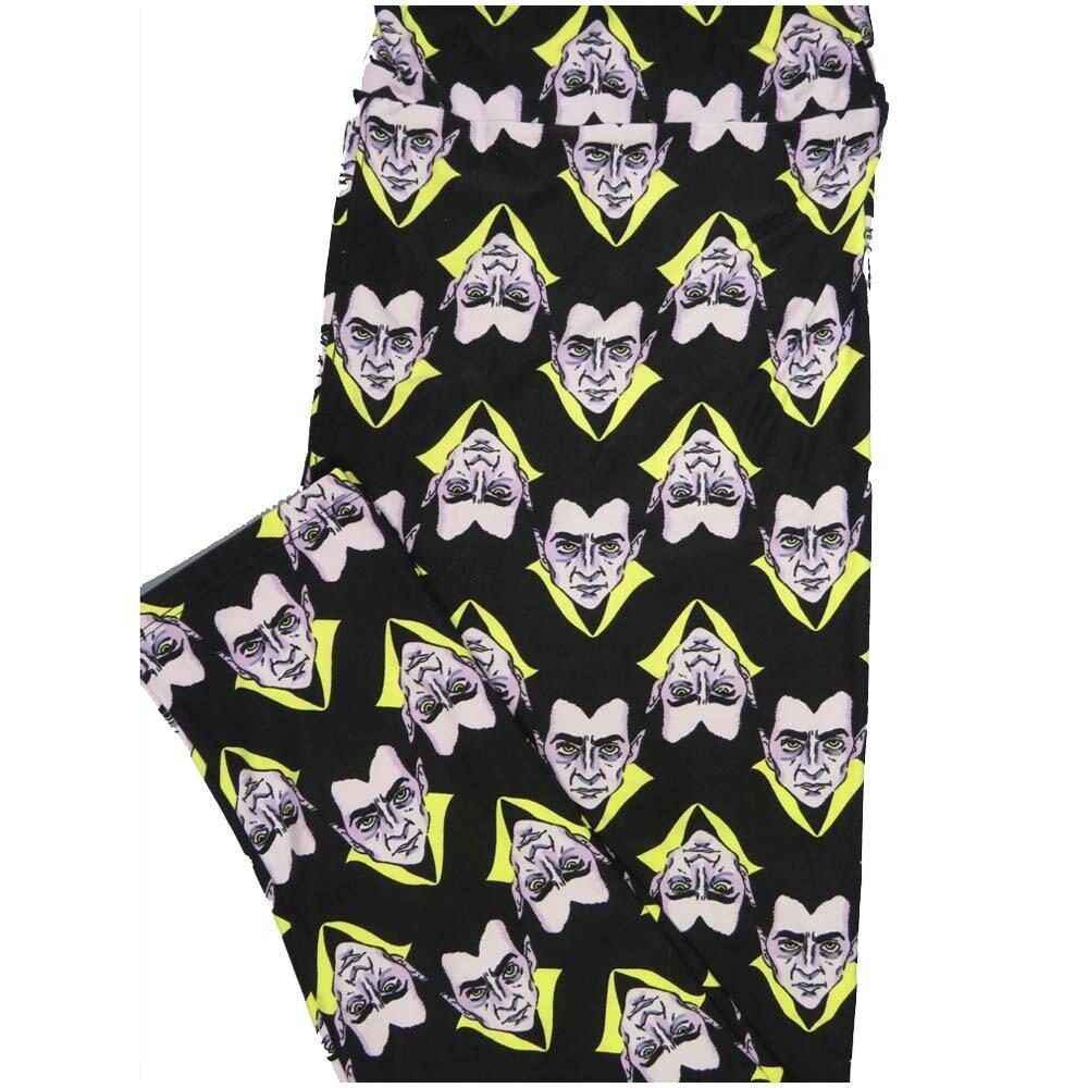 LuLaRoe TCTWO TC2 Dracula Nosfaratu Halloween Buttery Soft Leggings - TC2 fits Adults 18+