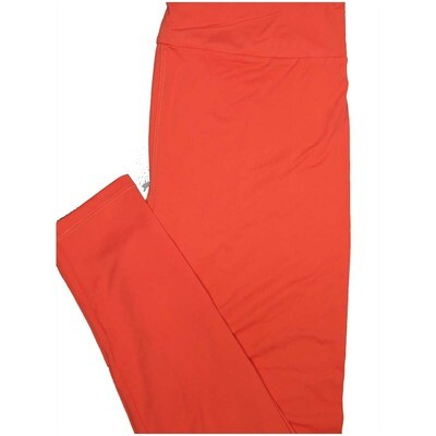 LuLaRoe Tall Curvy TC Solid Light Coral So Womens Buttery Soft Leggings (TC fits Adults 12-18)