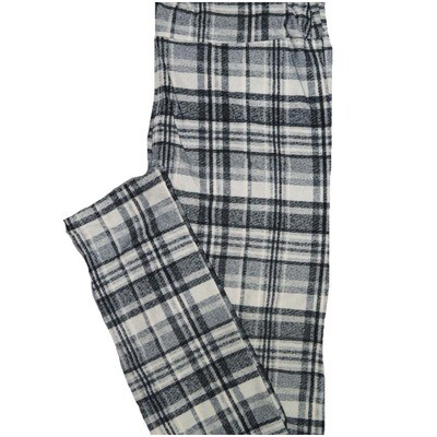 LuLaRoe One Size OS Plaid Buttery Soft Leggings - OS fits Adults 2-10