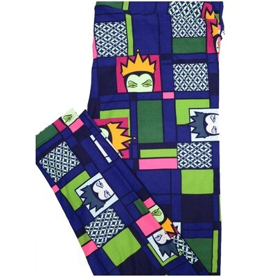 LuLaRoe TCTWO TC2 Evil Queen from Snow White Windowpanes Disney Buttery Soft Leggings - TC2 fits Adults 18+