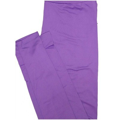 LuLaRoe One Size OS Solid Purple So Buttery Soft Leggings - OS fits Adults 2-10