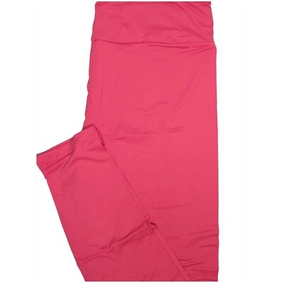 LuLaRoe One Size OS Solid Dark Pink So Buttery Soft Leggings - OS fits Adults 2-10
