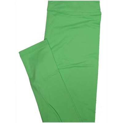 LuLaRoe One Size OS Solid Light Lime Green So Buttery Soft Leggings - OS fits Adults 2-10