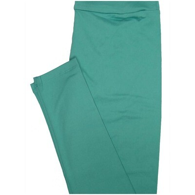 LuLaRoe One Size OS Solid Light Turquoise So Buttery Soft Leggings - OS fits Adults 2-10