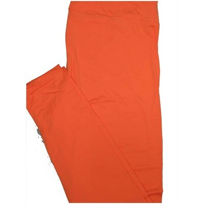 LuLaRoe One Size OS Solid Creamsicle Orange So Buttery Soft Leggings - OS fits Adults 2-10