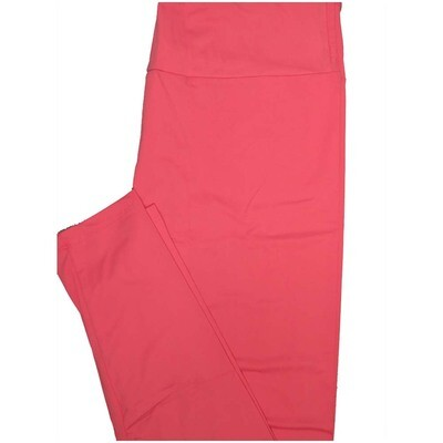 LuLaRoe Tall Curvy TC Solid Pink So Womens Buttery Soft Leggings (TC fits Adults 12-18)