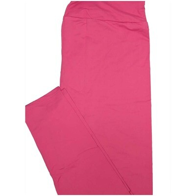 LuLaRoe Tall Curvy TC Solid Rosy Pink So Womens Buttery Soft Leggings (TC fits Adults 12-18)