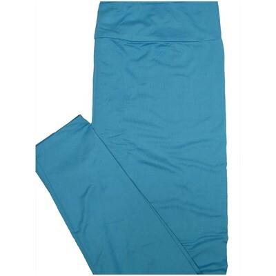 LuLaRoe Tall Curvy TC Solid Electric Blue So Womens Buttery Soft Leggings (TC fits Adults 12-18)
