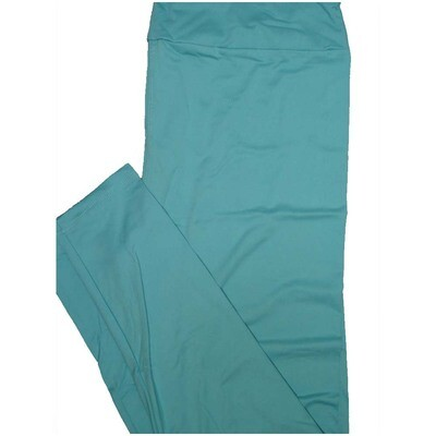 LuLaRoe Tall Curvy TC Solid Robin Egg Blue So Womens Buttery Soft Leggings (TC fits Adults 12-18)