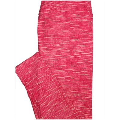 LuLaRoe Tall Curvy TC Solid HeatheRed Pink So Womens Buttery Soft Leggings (TC fits Adults 12-18)